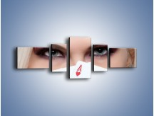 Obraz na płótnie – As w kobiecej dłoni – pięcioczęściowy L051W6