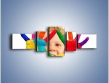 Obraz na płótnie – Kolorowy dziecięcy świat – pięcioczęściowy L053W6