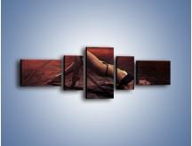 Obraz na płótnie – Kobiece ciało na bruku – pięcioczęściowy L055W6