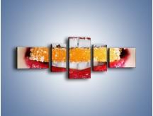 Obraz na płótnie – Cytrusy w słodkich ustach – pięcioczęściowy L207W6