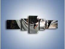 Obraz na płótnie – Dama w białych bandażach – pięcioczęściowy L278W6