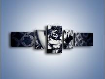 Obraz na płótnie – Czarno-biała dama – pięcioczęściowy L315W6