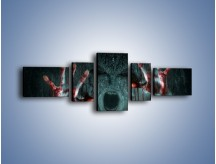 Obraz na płótnie – Krzyk i krew – pięcioczęściowy L363W6