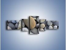 Obraz na płótnie – Kamienie duże i małe – pięcioczęściowy O006W6