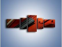 Obraz na płótnie – Instrument i muzyka poważna – pięcioczęściowy O025W6