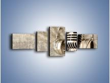 Obraz na płótnie – Głos w srebrnym mikrofonie – pięcioczęściowy O026W6
