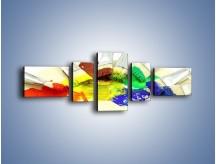 Obraz na płótnie – Kolory pędzlem malowane – pięcioczęściowy O046W6