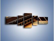 Obraz na płótnie – Instrumenty z drewna – pięcioczęściowy O108W6