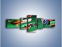 Obraz na płótnie – Mocne wrażenia w kasynie – pięcioczęściowy O122W6