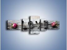 Obraz na płótnie – Miłość pachnąca różami – pięcioczęściowy O146W6