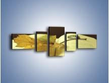 Obraz na płótnie – Liść na ciekawej powieści – pięcioczęściowy O163W6