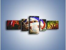 Obraz na płótnie – Bombka ręcznie malowana – pięcioczęściowy O168W6