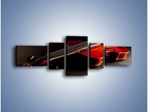 Obraz na płótnie – Mocne brzmienia na gitarze – pięcioczęściowy O205W6