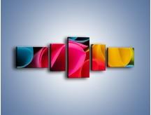 Obraz na płótnie – Kolorowe rulony – pięcioczęściowy O217W6