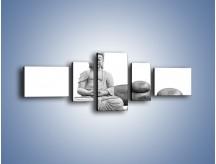 Obraz na płótnie – Budda wśród kamieni – pięcioczęściowy O229W6