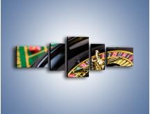 Obraz na płótnie – Czas drogocenny w kasynie – pięcioczęściowy O238W6