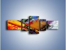 Obraz na płótnie – Kolory ze sobą zmieszane – pięcioczęściowy O251W6