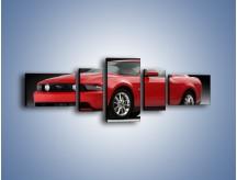 Obraz na płótnie – Czerwony Ford Mustang GT – pięcioczęściowy TM052W6