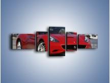 Obraz na płótnie – Czerwone Ferrari California – pięcioczęściowy TM057W6