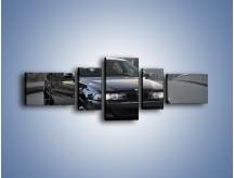 Obraz na płótnie – Czarne BMW E39 M5 – pięcioczęściowy TM072W6
