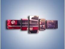 Obraz na płótnie – Czerwony Ford Mustang – pięcioczęściowy TM087W6