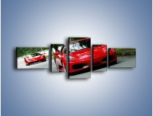 Obraz na płótnie – Ferrari F430 i Ferrari Enzo – pięcioczęściowy TM090W6