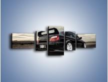 Obraz na płótnie – Czarne Subaru Impreza WRX Sti – pięcioczęściowy TM133W6