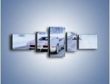 Obraz na płótnie – Bugatti Veyron w śniegu – pięcioczęściowy TM134W6