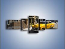 Obraz na płótnie – Amerykańska taksówka z lat 69 – pięcioczęściowy TM164W6