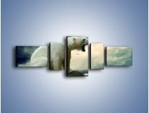 Obraz na płótnie – Donośny krzyk polarnego niedźwiedzia – pięcioczęściowy Z114W6