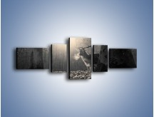 Obraz na płótnie – Jeleń w sepii – pięcioczęściowy Z250W6