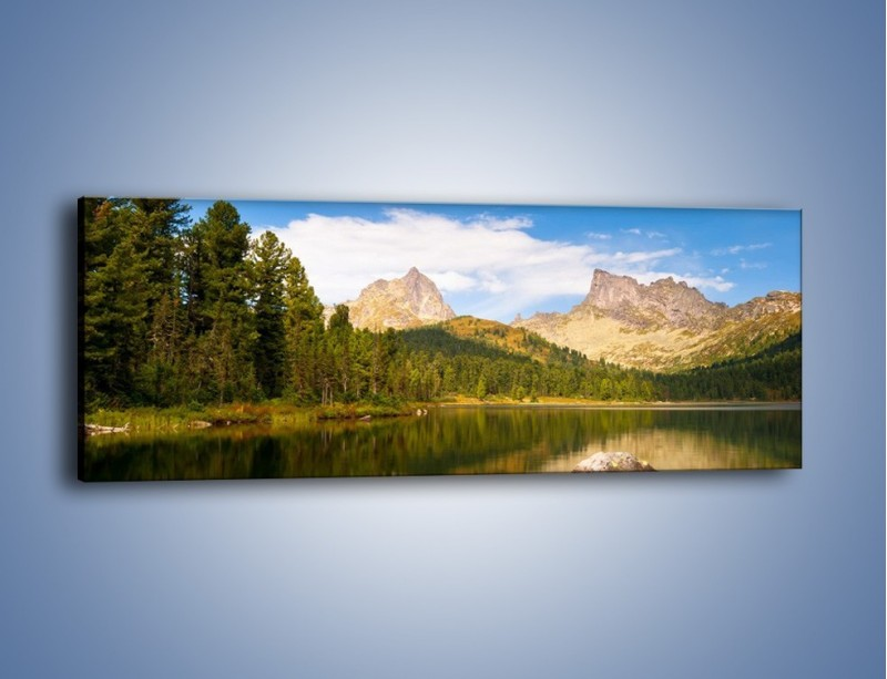 Obraz na płótnie – Widok nie tylko na góry – jednoczęściowy panoramiczny KN401
