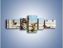 Obraz na płótnie – Mecz mrówkowych drużyn – pięcioczęściowy Z327W6