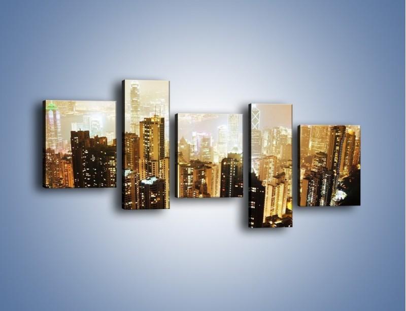 Obraz na płótnie – Miasto widziane z góry – pięcioczęściowy AM007W7