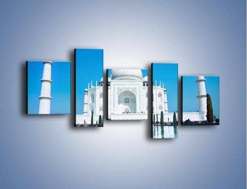 Obraz na płótnie – Taj Mahal pod błękitnym niebem – pięcioczęściowy AM077W7
