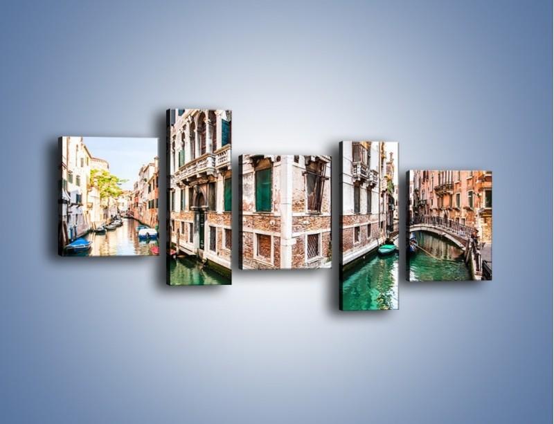 Obraz na płótnie – Skrzyżowanie wodne w Wenecji – pięcioczęściowy AM081W7