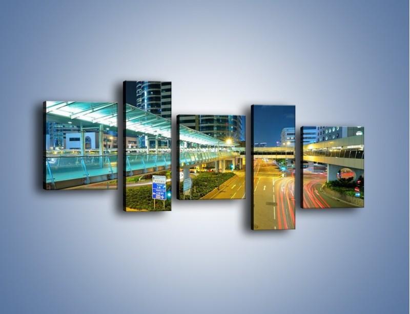 Obraz na płótnie – Droga na lotnisko w Japonii – pięcioczęściowy AM088W7