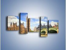 Obraz na płótnie – Big Ben w pochmurny dzień – pięcioczęściowy AM095W7