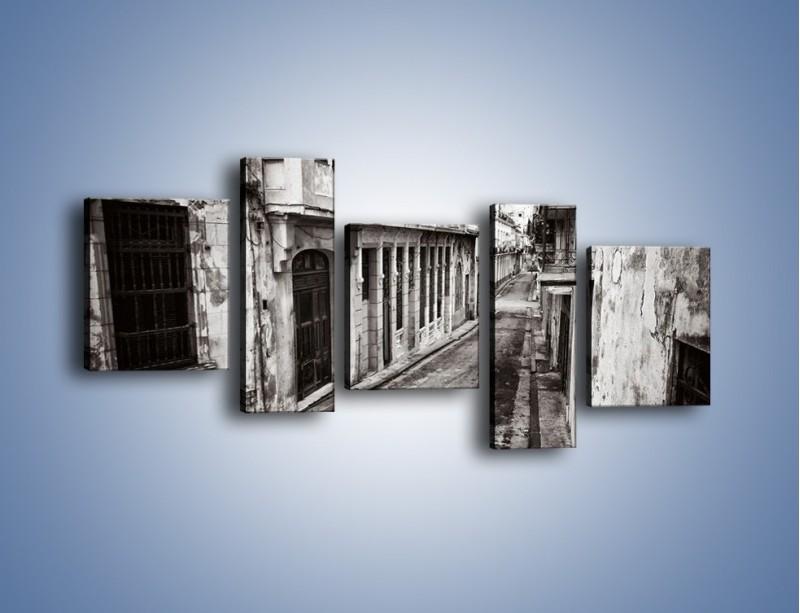 Obraz na płótnie – Urokliwa uliczka w starej części miasta – pięcioczęściowy AM124W7