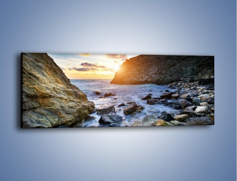 Obraz na płótnie – Zakaz kąpieli – jednoczęściowy panoramiczny KN402