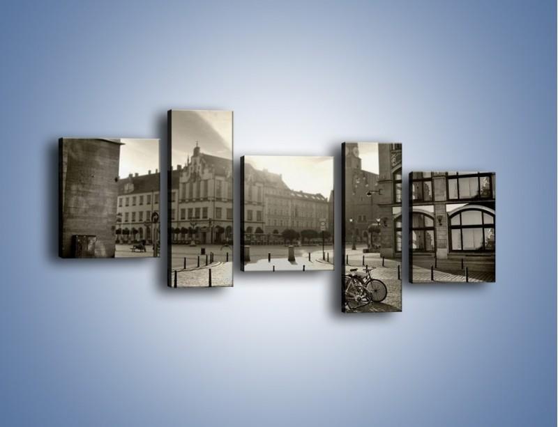Obraz na płótnie – Rynek Starego Miasta – pięcioczęściowy AM136W7