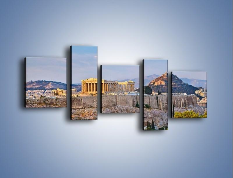 Obraz na płótnie – Ateńskie ruiny – pięcioczęściowy AM162W7