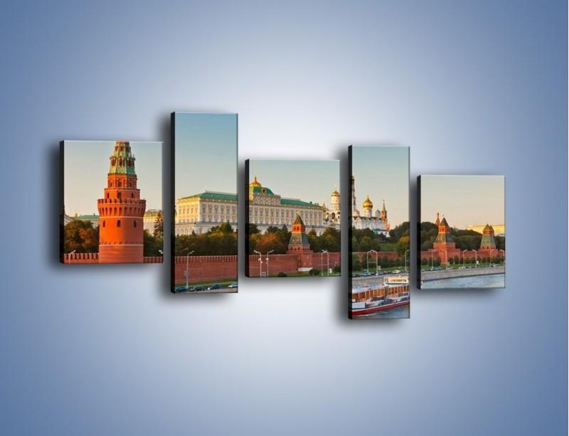 Obraz na płótnie – Kreml w środku lata – pięcioczęściowy AM164W7