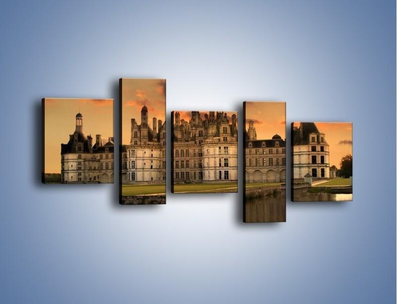 Obraz na płótnie – Stary zamek – pięcioczęściowy AM200W7