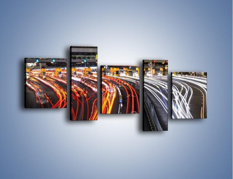 Obraz na płótnie – Autostradowa bramka w ruchu świateł – pięcioczęściowy AM236W7