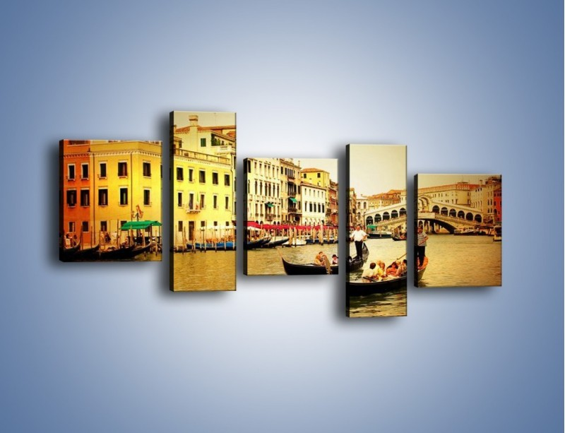 Obraz na płótnie – Wenecki rejs gondolą – pięcioczęściowy AM240W7