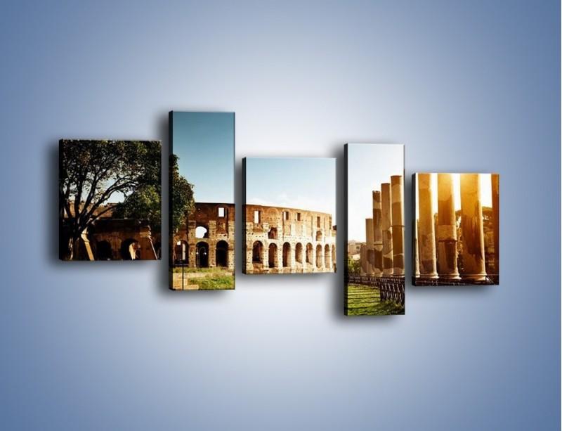 Obraz na płótnie – Koloseum w świetle słońca – pięcioczęściowy AM269W7