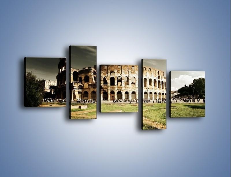 Obraz na płótnie – Koloseum przed burzą – pięcioczęściowy AM271W7