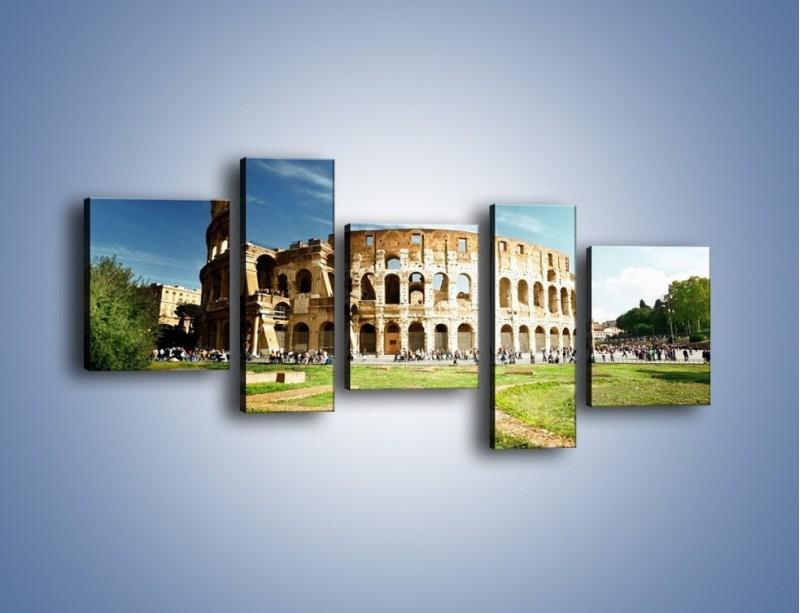 Obraz na płótnie – Koloseum w piękny dzień – pięcioczęściowy AM273W7