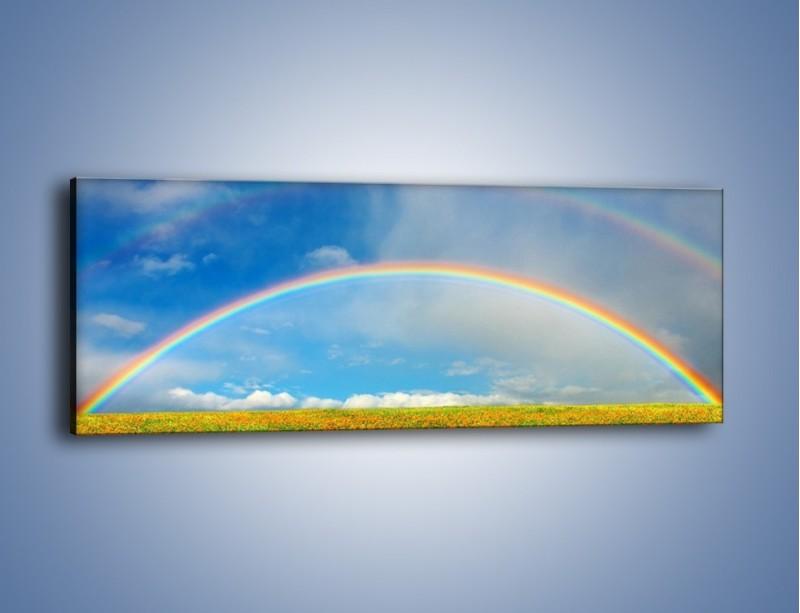 Obraz na płótnie – Urok kolorowej tęczy – jednoczęściowy panoramiczny KN406